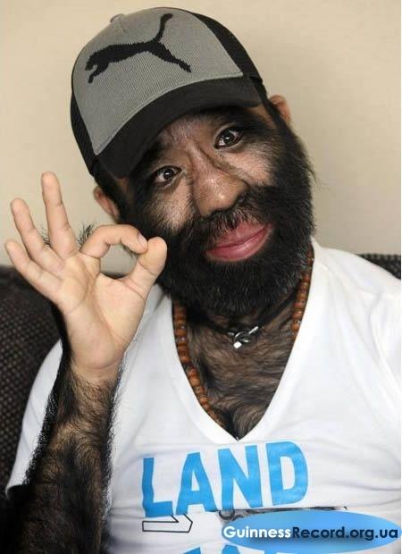 Секс с самый волосатый человек мира
